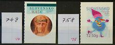 Slowakei MiNr. 749 und 758 - Selbstklebend aus Markenheftchen postfr. ** / mnh