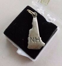 New Hampshire State Pewter Charm Silver Necklace Bracelet New England Souvenir