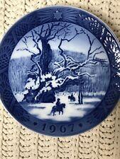 Royal Copenhagen Christmas Plate 1967 The Royal Oak - Kai Lange Denmark - 7�
