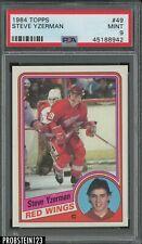 1984 Topps Hockey #49 Steve Yzerman Detroit Red Wings RC Rookie HOF PSA 9