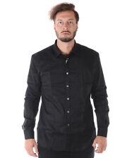 Camicia Daniele Alessandrini Shirt Cotone Uomo Nero C1657R11863707 1