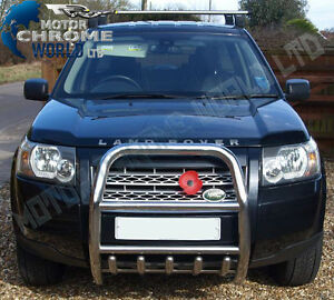 For LAND ROVER FREELANDER II 2007+ BULL BAR CHROME AXLE NUDGE PUSH A-BAR OFFER