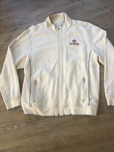 Team Canada TENNIS Toscano XL Off White Zip jacket sweatshirt cloth w/Logo