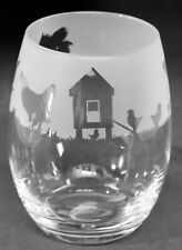 More details for chickens frieze boxed 36cl crystal stemless wine / water glass