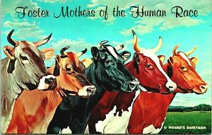 Hoard's Dairyman Foster Mothers of the Human Race 1961 Fort Atkinson WI Postcard