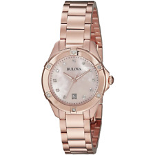 Bulova Women's Quartz Date Calendar Mother of Pearl Dial 28mm Watch 97R101