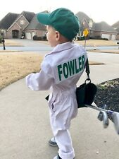 Kids Caddie Golf Uniform White Coverall Suit Adult Halloween Caddy Toddler Baby