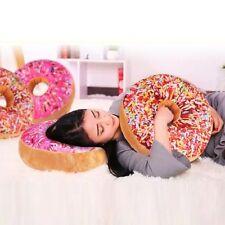 Circle Plush Pillow Stuffed Toy Donut Sweet Buns Food Back Cushion Car Set AU