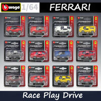 Bburago 1:64 Scale Car Models Kit Ferrari Race Play Series Alloy Diecast Car Toy