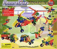 Construction Toys Connetrix Ensemble 40 Models 320 Piece  Meccano Style Buiding