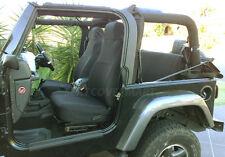 Jeep Wrangler 2003-06 Neoprene Full Set Black Car Custom Fit Seat Cover FS200