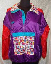 Columbia Sportswear Co Youth 18 - 20 Jacket Windbreaker Vtg Multi Color Pullover