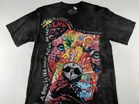 NEW The Mountain Pitbull Dog Loves More Than Yourself Black Tie Dye Dean Russo