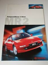 Toyota MR2 Automobil Werbeprospekt Verkaufsbroschüre 03/1998