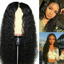 Women Pre Plucked With Baby Hair Curly Brazilian Remy Lace Front Human Hair Wigs