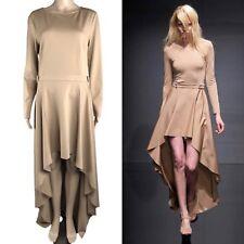 Kira Plastinina Size L Lublu Runway Designer Long Sleeve Asymmetrical Hem Dress
