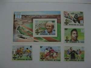 Chad 1978  World Cup football   SC#359-363,364 imperf
