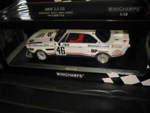 MINICHAMPS 1/18 1976 LeMANS BMW 3.5 CSL BROCK MUIR AUBRIET #46 TEAM BROCK LTD ED