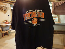 Fighting Illini Illinois Basketball Xxl Black Short Sleeved Shirt Cotton