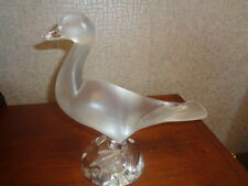 "Beautiful Lalique Duck, Mint, Large 9.75"", Attractive Mix Of Clear/frosted Glass"
