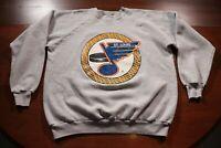 Vintage 80s 90s St. Louis Blues Sweatshirt XL Shirt NHL Hockey Retro Gray 50/50