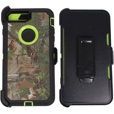 For iPhone 7/7 PLUS Defender Impact Rugged Camouflage Case w/ Screen & Holster
