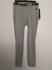 Head Compression Pants Tight Fit Sleet Heather Gray Men's Large