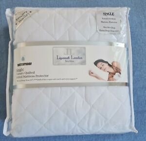 EXTRA DEEP QUILTED WATERPROOF MATTRESS PROTECTOR SINGLE FITTED BED COVER