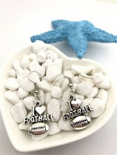 I Love Football Earrings Tibet silver Charms Earrings Charm Earrings for Her