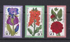 Germany Postage Stamps 1976 Flowers 3 Values MNH (3v)