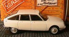 CITROEN GS 1971 NOREV 1/43 BLANC HACHETTE BOITAGE CARTON WEISS WHITE BIANCA
