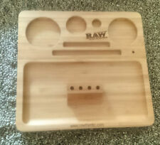 RAW Wooden Bamboo Rolling Tray - UK Seller