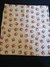 Beautiful white cotton cushion covers With Owl Pattern - In Excellent Condition