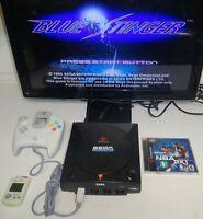 Sega Dreamcast Sports Edition Black Console w/ Blue Stinger Tested SAME DAY SHIP