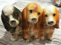 Real Nice Cute Napcoware 3 dogs Vintage Planter