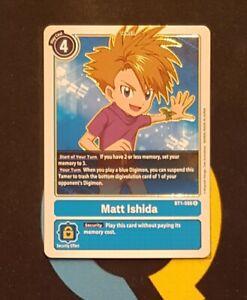 Matt Ishida - BT1-086 - Rare - Digimon TCG