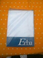 4-tgl  Bettwäsche Mako Satin Brokat Damast  weiss  Marke ERBA  Vintage NEU w