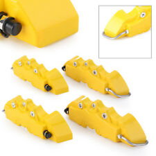 3D 4X Car Truck Plastic Front Rear Disc Brake Caliper Covers Sets w/ Logo Yellow