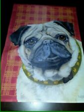New in Package Pug Pet Dog Garden Flag Last one adorable fawn crown collar 12x18