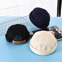 Adjustable Men Street Casual Docker Sailor Biker Hat Loop Beanie Brimless Cap