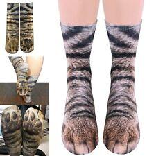 Cat paw stockings - socks feet feline tabby cats purr animal novelty foot sock
