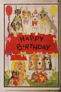 Greetings Happy Birthday Postcard Old Vintage Card View Standard Souvenir Postal