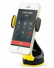 """Earldom® 360 Free Rotation Car Holder Stand For iPhone5/6/7/+ 3.6-6""""Black+Yellow"""