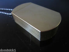 BRASS Dog Tag Pill Box Vertical Open MagTag mil-spec Bourne by Magno