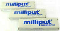 3 x Milliput Silver Grey 2 Part Expoxy Putty Filler Repair Model Filling 113.4g