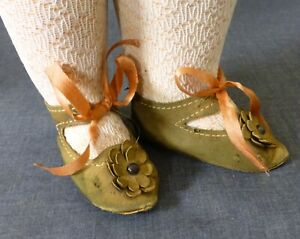 LEATHER SHOES & socks for ANTIQUE DOLL, doll Clothes, Shoes