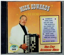 MICK EDWARDS - JUST FOR YOU - NON-STOP ACCORDION MUSIC CD- FREE POST IN UK