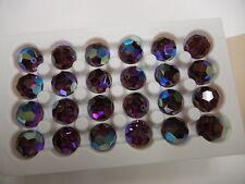 4 vintage swarovski crystal beads,14mm amethyst AB #5000