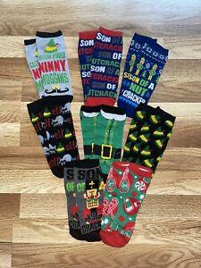 Elf - Ladies Socks 8 Pairs - Buddy The Elf - Christmas - NEW