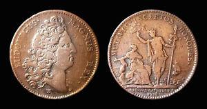 Parties et Revenus Casuels Louis XIV 1715 - cuivre  F2730